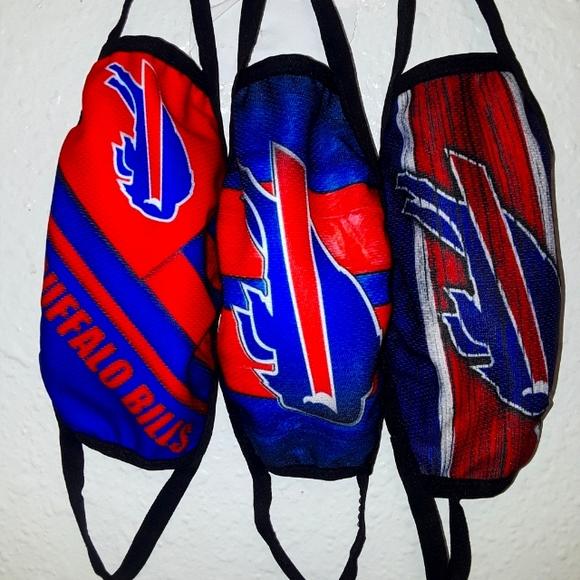NFL Buffalo Bills Face Mask Qty 3